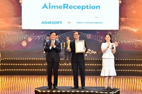 """Phần mềm Nhân viên Lễ tân ảo AimeReception đạt giải thưởng Sao Khuê 2021  - Công nghệ """"người ảo"""" được đánh giá cao."""