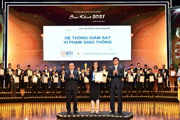 Hệ thống giám sát vi phạm giao thông của Công ty Cổ phần Đầu tư và Công nghệ HTI vinh danh tại giải thưởng Sao Khuê 2021